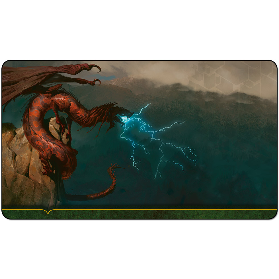Magic trading card game Playmat: Storm breath Dragon JACE BELEREN PLANESWALKERS art playmat 60cm x 35cm (24 x 14) Size image