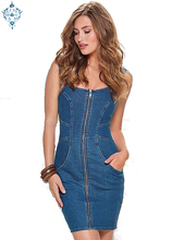 Ameision New Summer Tunic Blue Jean Chic Dresses High Quality Rockabilly Vintage Bodycon Backless dress Robe Femmel Roupas