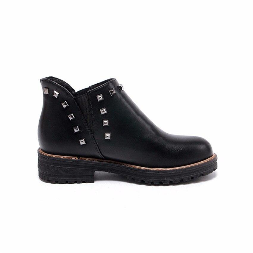 High Quality Spring Autumn Women Ankle Boots Casual Low Heel Shoes Woman Short Boots Plus Size 34-40,41,42,43 botas botte