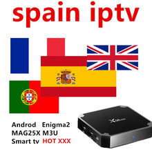 Stable Spain Portugal IPTV Subscription With 4000+ Europe Spain Portugal Nordic LiveTV and VOD For Android TV Box M3U Smart tv(China)