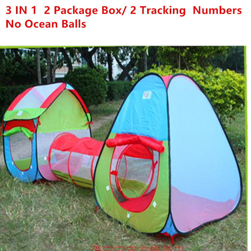 ФОТО new arrival  large indoor/outdoor children tent princess prismatic baby toy game room three in one house crawling tunnel gift