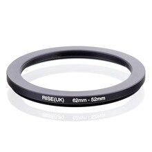 RISE (Reino Unido) 62mm 52mm 62 52mm 62 a 52 anillo de reducción adaptador de filtro negro