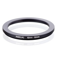 RISE(UK) 62mm 52mm 62 52mm 62 to 52 Step down Ring Filter Adapter black
