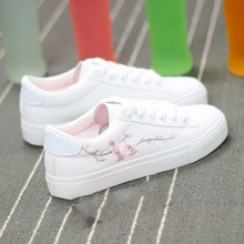 White Casual Sneakers Flats Women Canvas Shoes