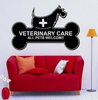 Grooming Salon Vinyl Wall Dogs Veterinary Care All AnimalsWelcome Clinic Wall Sticker Pet Shop Pet Salon Vet Clinic Decoration