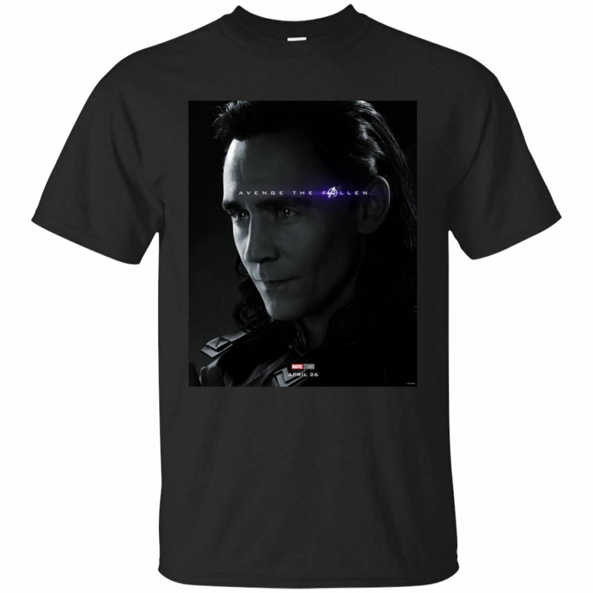 Loki - Avengers End Game Marvel Comic Poster Avenge The Fallen Black T-Shirt T Shirts Casual Brand Clothing Cotton Top Tee