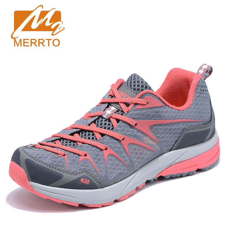 MERRTO Women's Smart Running Shoes Cushioning Sneakers Breathable Mesh unti-skid ultra-Light damping Shoes Female Athletic Shoes 2017brand sport mesh men running shoes athletic sneakers air breath increased within zapatillas deportivas trainers couple shoes