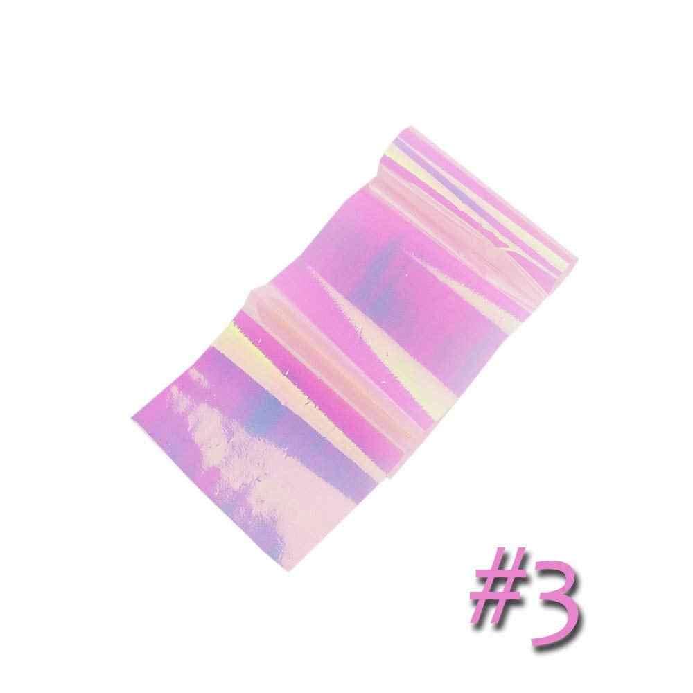 6pcs di vetro di Arte del chiodo adesivi Aurora platino Sinfonia di irregolare vetro rotto platino specchio di carta autoadesivi del chiodo di cellophane