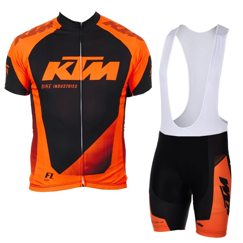 KTM Team Breathable Cycling Jersey Kits Summer Mtb Cycling Clothing Bicycle Short Maillot Ciclismo Sportwear Bike Clothes wosawe waterproof cycling jersey cycling rain jacket wind coat bicycle clothing ciclismo mtb bike cycle raincoat