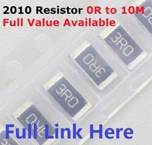 Livre o navio 100 pces smd chip resistor 2010 10 k ohm 5% 0r ~ 10 m 1/2 w 10r 100r 220r 330r 470 ohm 1 k 2.2 k 10 k 100 k 0r 1r. 5/6/7/8/9/r/k