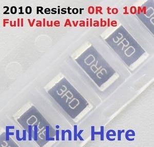 Free Ship 100pcs SMD Chip Resistor 2010 10K ohm 5% 0R~10M 1/2W 10R 100R 220R 330R 470 ohm 1K 2.2K 10K 100K 0R 1R .5/6/7/8/9/R/K