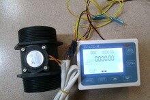 Новый G 2 » дюймовый расход воды датчик метр + жк-цифровой дисплей контроллер