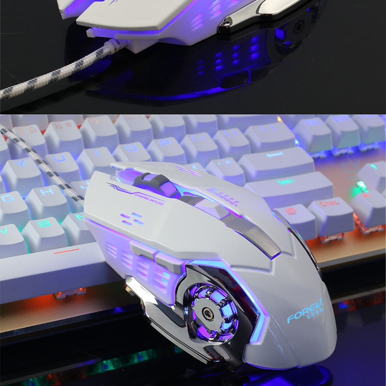 2017 Gaming Mouse Computer Wired Glow Macro Definition Professional Mice 6 Buttons 3200DPI USB Optical  For Laptop Desktop 2