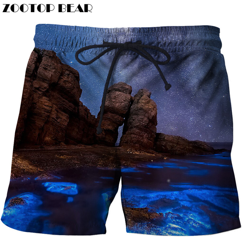 Rock Printed Beach Shorts 3d Masculino Homme Men Short Plage Quick Dry Swimwear Anime Board Shorts Funny Drop Ship ZOOTOP BEAR
