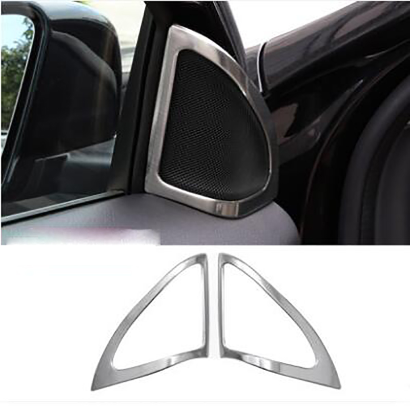 Car-styling ABS Chromium Cover Interior Door Audio Speaker decoration decals For <font><b>Mercedes</b></font> Benz GLA X156 <font><b>180</b></font> 200 image