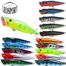 LEOSPORT New Arrival 9.5cm/12g 1 pcs Big Popper Fishing Lures 3d Eyes Bait Crankbait Wobblers Tackle Isca Poper Japan