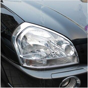 ABS Chrome ด้านหน้าด้านหลังไฟท้ายไฟตัด Trim Styling Garnish Bezel Molding สำหรับ Hyundai Tucson 2005-2012