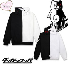Danganronpa: Trigger Happy Havoc Cosplay Monokuma Thick Cotton padded zipper hoodie
