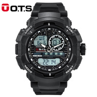 O T S Relogio Masculino Digital Mens Sports Watches Quartz OTS Brand 50m Outdoor Waterproof Multifunction