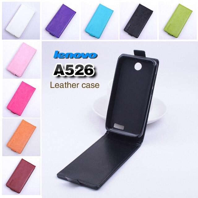 Lenovo A526 Case cover High Quality Top Open PU Flip case cover for Lenovo A526 mobile cellphone free shipping