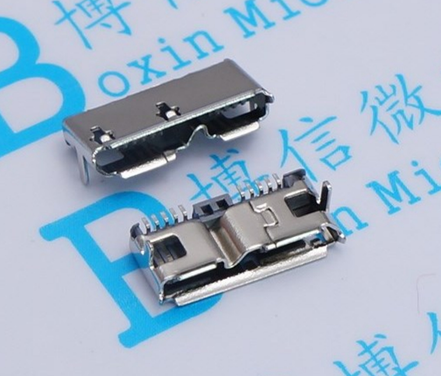 2pcs Micro USB 3.0 B Type DIP Female Socket DIP2 10pin USB Connector For Mobile Hard Disk Drives Data Interface