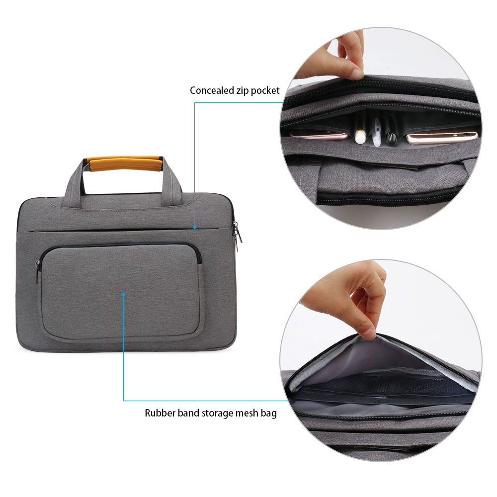 Image 4 - iCozzier 13.3 inch Front Pocket Laptop Sleeve Large Capacity Handbag Protective Business Case Bag for 13 Ultrabook/Notebook-in Laptop Bags & Cases from Computer & Office