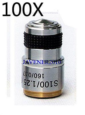 100X Achromatic Objective Lens for Microscope omax 100x oil spring achromatic compound microscope objective lens