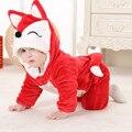 Black Friday Natal Xmas Halloween Traje Infantil Raposa Anime Cosplay Crianças Recém-nascidas Do Bebê Roupas