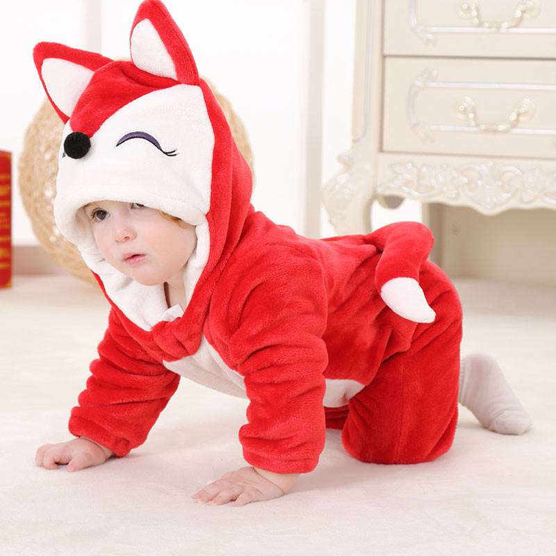 Infant Babies Boys Girls Toddler Unisex-baby Onesie Outfits Cute Animal Red Fox Costume Rompers infant toddler baby boys girls soft sole crib shoes sneaker prewalker 0 12months py1