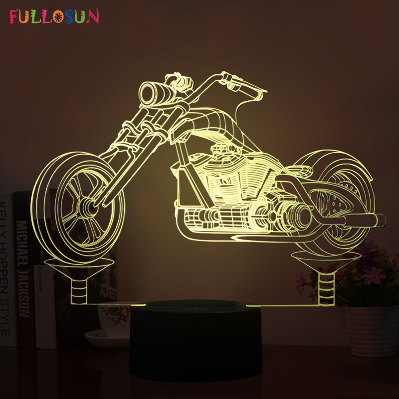 Creative 3D LED Lamp LED Motorcycle Model Night Lights with 5V USB Cabel Lamp as Home Art Decoration Lights & Holiday Gifts new arrival rgb folding notebook led light 5 colors creative gifts 5v usb rechargeable book lamp eye protecting night lights