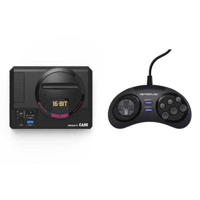 Retroflag MEGAPi กรณี MD USB Gaming Controller สำหรับ Raspberry Pi 3 B + (Plus) Pi2 Gamepad