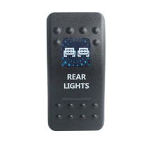 WATERPROOF IP68 Car Boat 12v/24v Blue Led 5 Pin on-off SPST REAR LIGHTS Rocker Switch