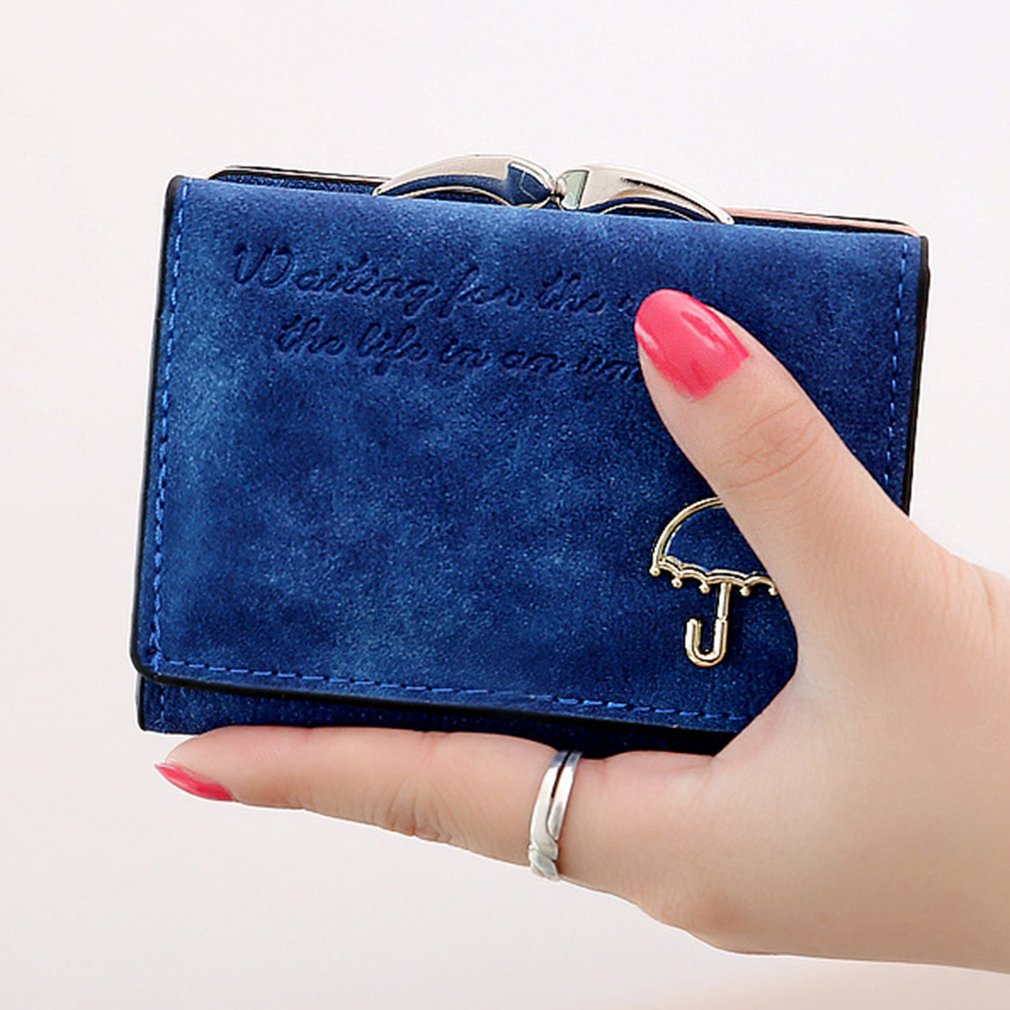 Women Wallet Small Umbrella Vintage PU Leather Hasp Short Wallets Card Holder Bag Evening Clutch Purse Bags For Women 2018 недорго, оригинальная цена