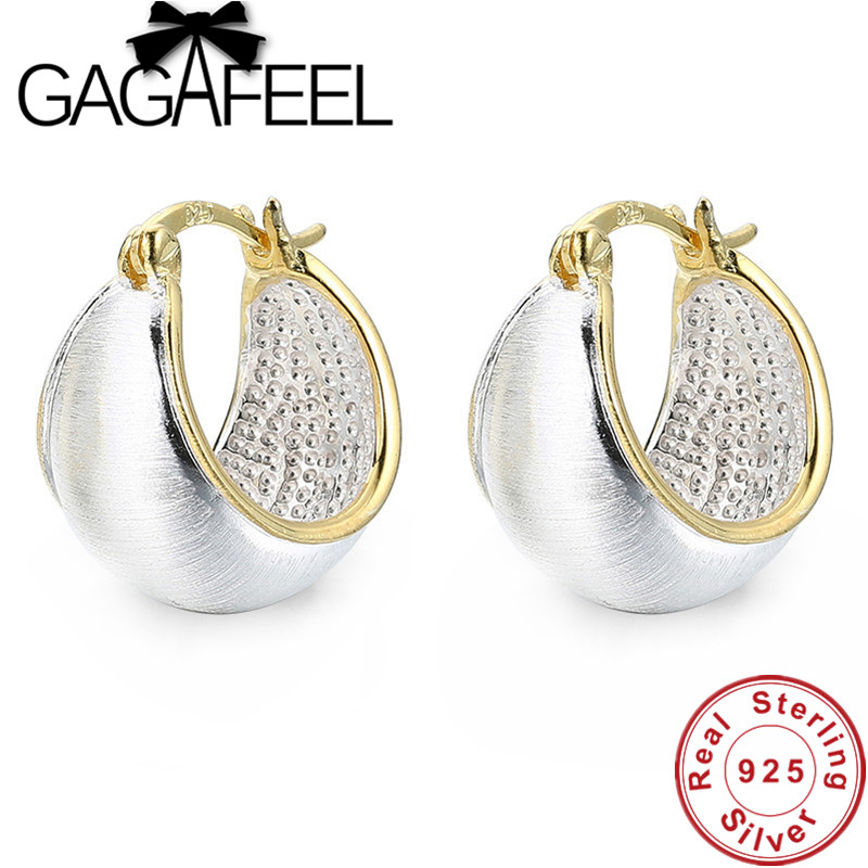 GAGAFEEL Women Earrings 925 Sterling Silver Jewelry Trendy Hoop Earrings for Female Fashion Gifts Drop Ship платье base forms base forms mp002xw1b3dq