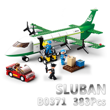 Sluban Model Building Compatible lego Lego B0366 463pcs Model Building Kits Classic Toys Hobbies Airbus Cargo Aircraft
