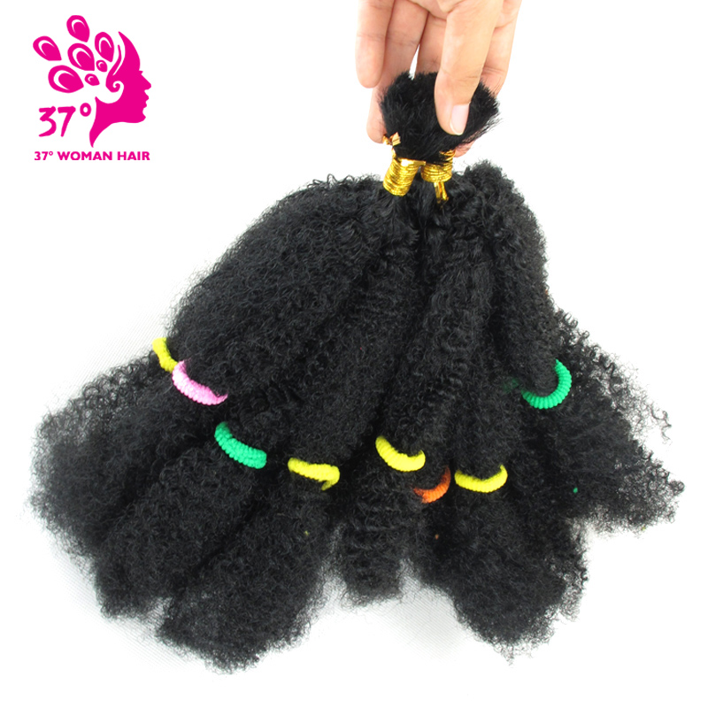 Dream Ice's 2X Afro Kinky Bulk Hair Synthetic Hair Extensions Crochet Braiding Twist Hair 1B 100g/pack