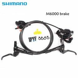 SHIMANO DEORE M6000 тормоз для горных велосипедов гидраульный Дисковый Тормоз MTB BR BL-M6000 DEORE тормозной 850/1600 левый и правый