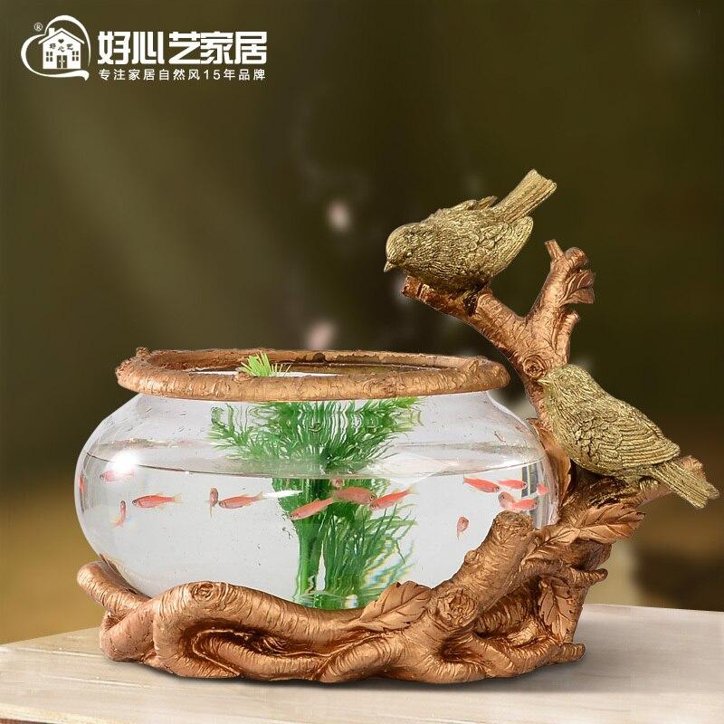Escritorio ecol gico tanque de peces de acuario pecera de for Peces para acuarios pequenos