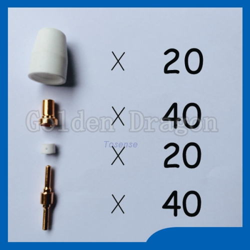 ФОТО Super high cost plasma cutting tips kit Welding Torch TIPS KIT Praise Suitable for Cut40 50D CT312 ,100pcs