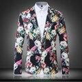 Мужчины свободного покроя пиджак видео-хостинг банкет общественных мероприятий 2016 весна осень мода красочный цифровая печать тонкой куртки марка одежды