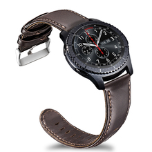 Laforuta Quick Release Watch Band 22mm Genuine Leather Strap for Samsung Gear S3 Classic Frontier Galaxy Watch 46mm Smart Watch цена