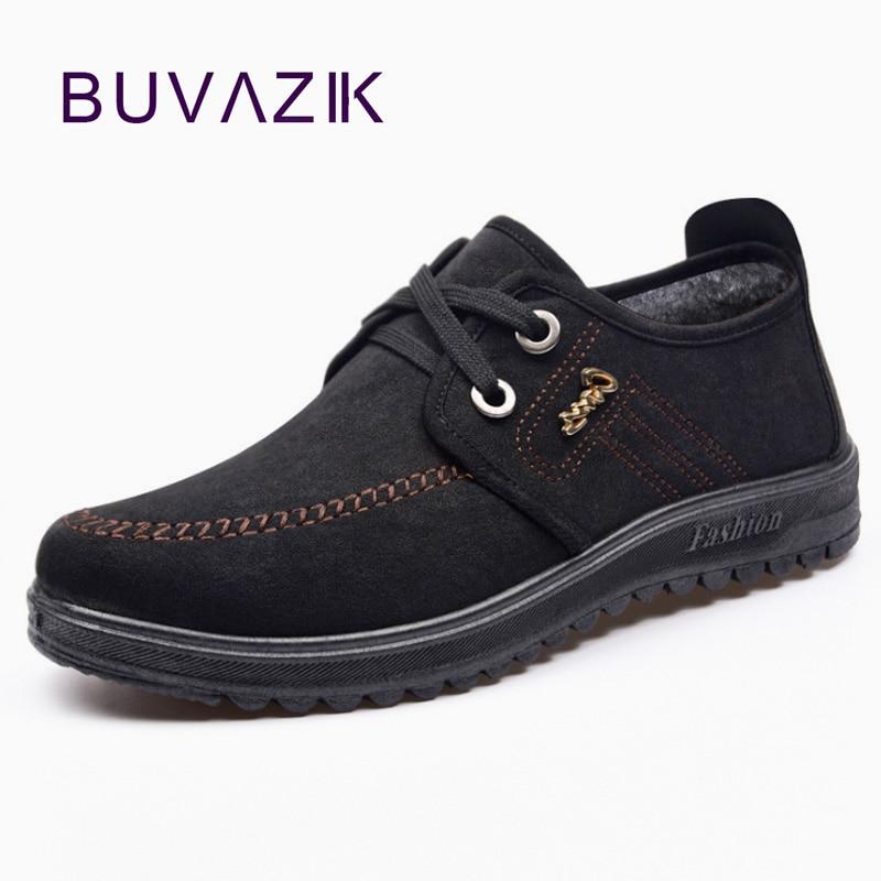 D'hiver Buvazik Noir Oxford Zapatos Hommes marron Hiver Chaussures Chaud Neige Hombre De Confortable Occasionnels Doux Pour gqw8ga6F