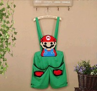 Summer Fashion New Korean Version Of The Candy Cartoon Overalls Mario Shorts Pants Jumpsuits Rompers