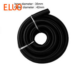 5 м вакуумный шланг 35 мм Черный EVA шланг пылесоса пылесос соединительные муфты гофрированный шланг для центрального пылесоса