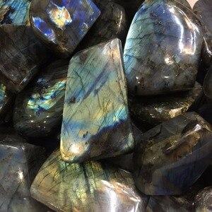 Image 5 - Pierre naturelle de guérison, Quartz poli en Labradorite, pierre naturelle, pour la maison