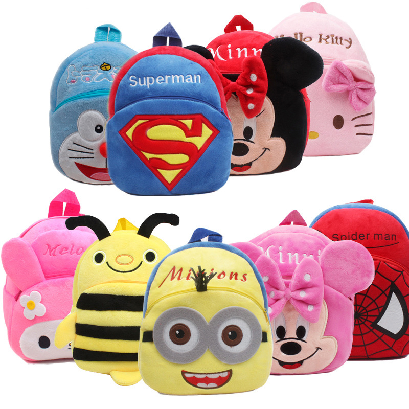 New Cute Cartoon Kids Plush Backpack Toy Mini School Bag Childrens Gifts Kindergarten Boy Girl Baby Student Bags Lovely MochilaNew Cute Cartoon Kids Plush Backpack Toy Mini School Bag Childrens Gifts Kindergarten Boy Girl Baby Student Bags Lovely Mochila