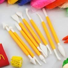 8PCS Play Dough Playdough And Polymer Clay Plasticine Mold Tools Set Kit slime Molds