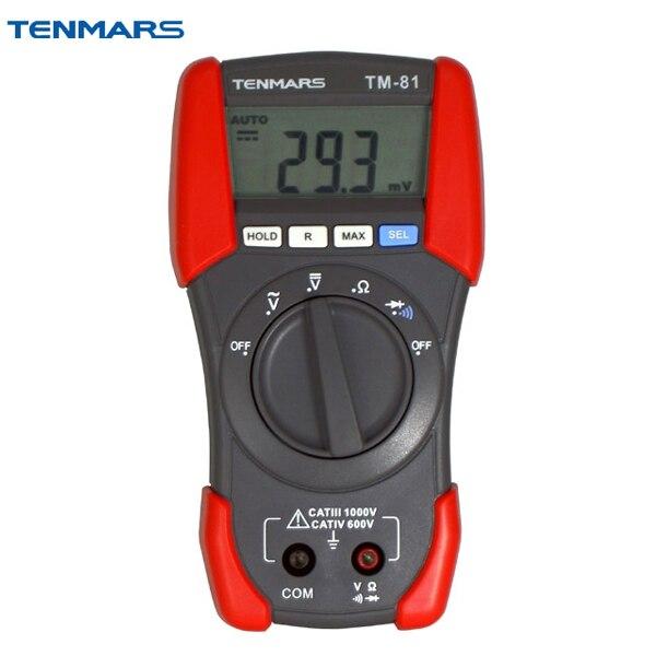 Portable ACV DCV Resistance Test Digital Multimeter TENMARS TM81 цены