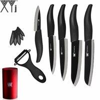 Beauty Gifts 7 Piece Set XYj Brand Zirconia Kitchen Knife 3 4 5 6 6 Serrated