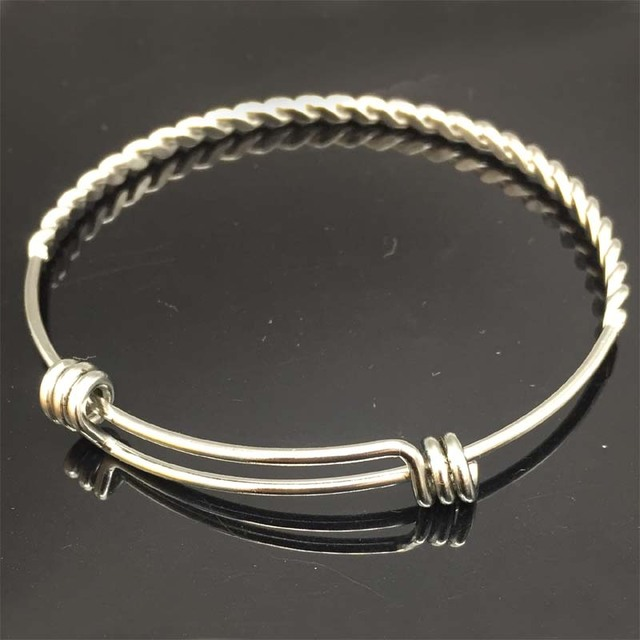 10pcs Lot China Fashion Bangle Twist Wire Bracelet Custom Charm